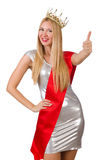 Beauty contest winner isolated Royalty Free Stock Photo
