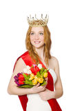 Beauty contest winner Royalty Free Stock Photo