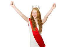 Beauty contest winner Royalty Free Stock Images
