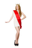Beauty contest winner isolated Stock Images