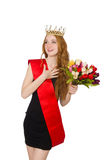 Beauty contest winner isolated Royalty Free Stock Photography