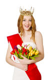 Beauty contest winner isolated Stock Photography