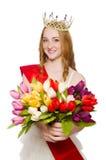 Beauty contest winner isolated Stock Photo
