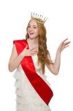 Beauty contest winner isolated Stock Photos