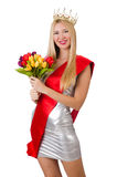 Beauty contest winner isolated Royalty Free Stock Images