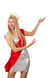 Beauty contest winner isolated Royalty Free Stock Image