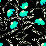 Beauty contrast simple floral pattern swirl elements background Stock Image