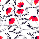 Beauty contrast simple seamless floral pattern swirl elements ba Royalty Free Stock Photo