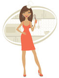 Beauty cooking royalty free illustration