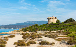 Beauty of Corsica. Beautiful Corsica beach, mountains, sea royalty free stock photos