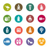 Beauty and Cosmetic Color Icons Royalty Free Stock Image