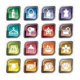 Beauty and Cosmetic Icons Royalty Free Stock Photo