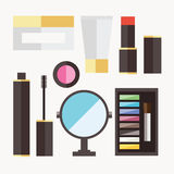 Beauty cosmetic icons Stock Photos