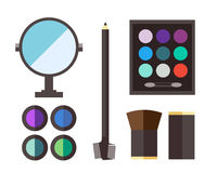 Beauty cosmetic icons Royalty Free Stock Images