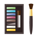 Beauty cosmetic icons Stock Images
