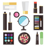 Beauty cosmetic icons Stock Image