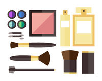 Beauty cosmetic icons Stock Photography