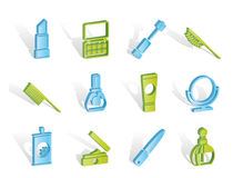 Beauty,cosmetic and make-up icons vector illustration