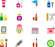 Beauty, cosmetic and makeup icon set Stock Photography
