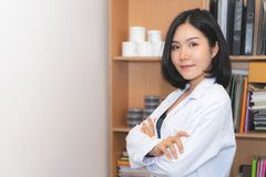 Beauty Cosmetic medical Female Lab worker. Beauty Cosmetic medical Female officer Lab worker stock photography