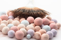 Beauty cosmetic powder Stock Photography