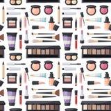 Beauty cosmetic seamless pattern Stock Photo