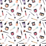 Beauty cosmetic seamless pattern Stock Photography
