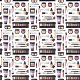 Beauty cosmetic seamless pattern Stock Photos