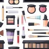 Beauty cosmetic seamless pattern Stock Image
