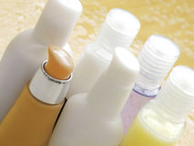 Beauty cosmetics bottles Stock Image