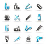 Beauty and cosmetics icons. Vector icon set Royalty Free Stock Photography
