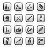 Beauty and cosmetics icons. Vector icon set Royalty Free Stock Photo