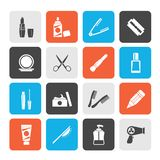 Beauty and cosmetics icons. Vector icon set royalty free illustration