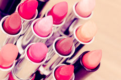Beauty & cosmetics:lipsticks and lipgloss Stock Photo