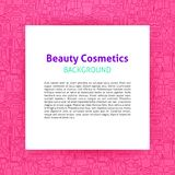 Beauty Cosmetics Paper Template. Vector Illustration of Outline Design Royalty Free Stock Photos