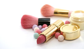 Beauty Cosmetics Set. On white background Royalty Free Stock Image