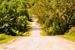 Beauty Of A Country Road. A beautiful calm day in the country royalty free stock photography