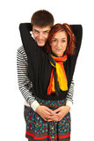 Beauty couple in embrace Stock Image