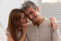 Beauty couple smiling Stock Photos