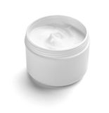 Beauty cream container. Close up of  beauty cream container on white background with clipping path Royalty Free Stock Photos