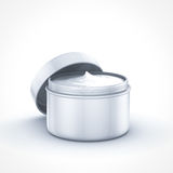 Beauty cream container. On white background Royalty Free Stock Photography