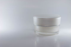 Beauty cream packaging containers white color Royalty Free Stock Image