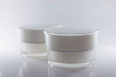 Beauty cream packaging containers white color Stock Photography