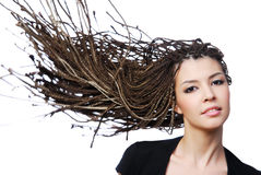 Beauty creativity hair Stock Photos