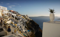 Beauty Cycladic island - Santorini Stock Image