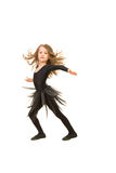 Beauty dancer girl in motion Royalty Free Stock Photography