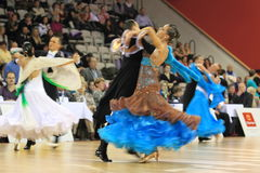 Beauty of dancing in czech ballrooming champ Royalty Free Stock Photo