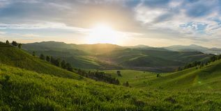 Beauty dawn in the mountains Royalty Free Stock Photo