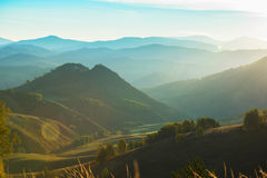 Beauty dawn in the mountains Stock Photography