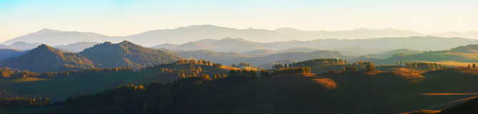 Beauty dawn in the mountains Royalty Free Stock Image